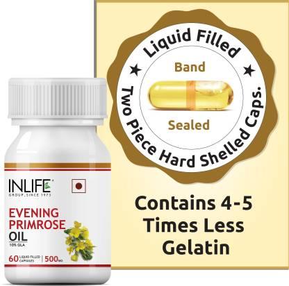 Inlife Evening Primrose Oil Extra Virgin Cold Pressed, 500 mg