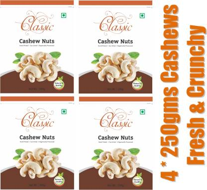 Nidhivan Classic Whole (4 * 250gms) Cashews
