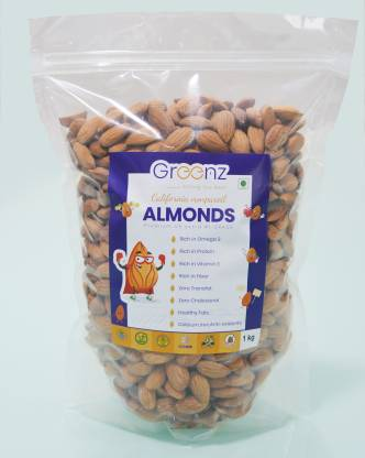 GREENZ Nuts & Dryfruits Almonds