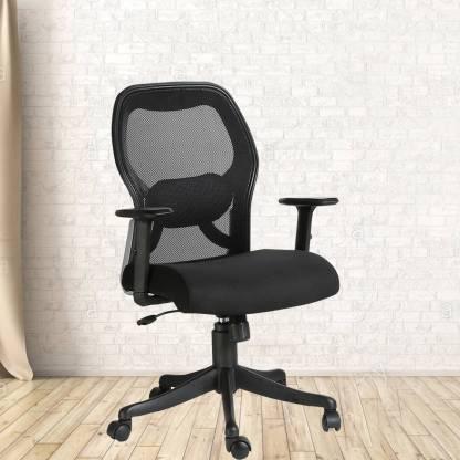VJ Interior Fabric Office Adjustable Arm Chair