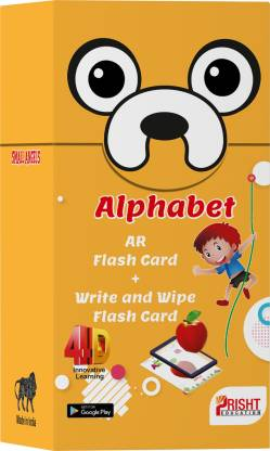 ALPHABET AR FLASH CARD + WRITE AND WIPE FLASH CARD