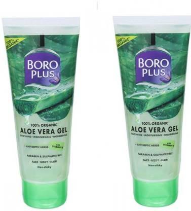 BOROPLUS aloe vera gel SOOTHING MOISTURISING NOURISING (2*60ML)