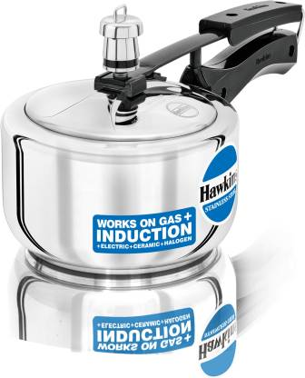 HAWKINS STAINLESS STEEL PRESSURE COOKER 1.5 LITRES 1.5 L Induction Bottom Pressure Cooker