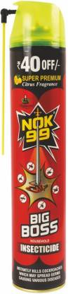 NOK-99 Premium Big Boss (Pack Of 3) Insect Spray Eliminates Cockroaches Mosquitoes Flies Bed Bugs