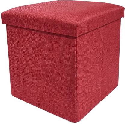 GTC Portable & Foldable Storage Stool for Living Room (363-11) Polyester, Weight Capacity-100 KG Living & Bedroom Stool