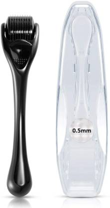 Elmask Micro Needles 0.5mm Derma Roller 540 Titanium Needle Black Roller for Hair and Skin Care