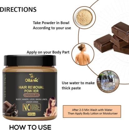 Oilanic Chocolate Hair Removal Powder 100gm Wax