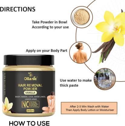 Oilanic Vanilla Hair Removal Powder 100gm Wax