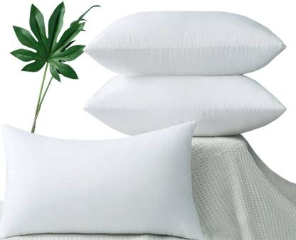 THE ROYAL MASTER Luxury Microfibre, Cotton Solid Sleeping Pillow Pack of 3