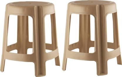 POLYSET Classic Perfect Posture Patla 801 Living & Bedroom Stool(Beige, Pre-assembled)