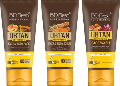 Biofresh Ubtan Combo Kit Face And Body Pack, Face And Body Scrub And Face Wash