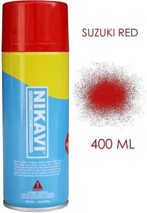 nikavi Automotive Rust Paint Spray Can for Motorcycle, Suzuki Red (400 ML) SUZUKI RED Spray Paint 400 ml(Pack of 1)