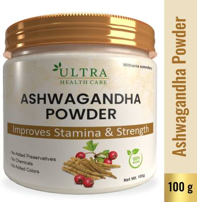 Ultra Healthcare Natural Ashwagandha| Withania Somnifera Powder|Promotes Vitality & Strength|Boost Brain Power|Support for Stress-free Living|100% Pure