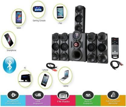X9X HI BASS DJ SOUND SYSTEM (5.1) 9500 W Bluetooth Home Theatre
