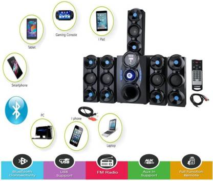 X9X HI BASS SOUND SYSTEM (5.1 ) 9500 W Bluetooth Home Theatre