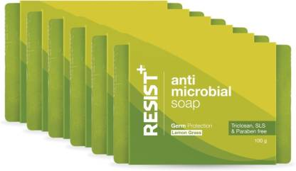 RESIST+ Lemon Grass Antimicrobial Soap, Advance Germ Protection, Pack of 6 - 600g