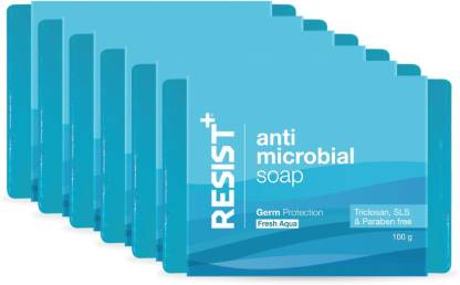 RESIST+ Fresh Aqua Antimicrobial Soap, Advance Germ Protection, Pack of 6 - 600g