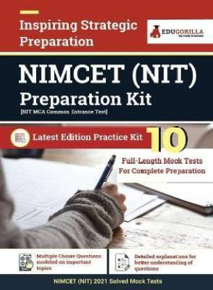 NIMCET NIT Entrance Exam 2021 10 Days Preparation Kit 10 Full-length Mock tests (Solved) Latest Edition as per National Institutes of Technology (NITs) Syllabus