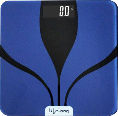 Lifelong Glass Weighing Scale Weighing Scale(Blue)
