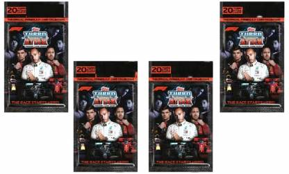 Topps F1 Turbo Attax Trading Card Game Multipack Pack of 4(Multicolor)