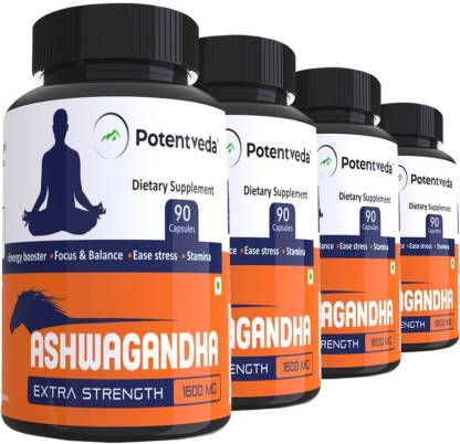 Potentveda Ashwagandha extract Gold Grade 90 capsules