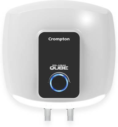 CROMPTON 15 L Storage Water Geyser (Solarium Qube, White, Black)