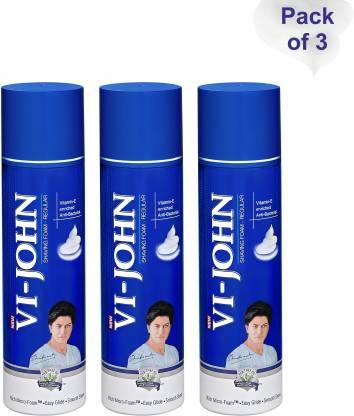 VI - JOHN Shaving Foam (250gm Each, Pack of 3)