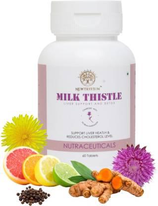 NEWTREESUN Milk Thistle for Liver Bones Asthma Cholesterol Skin