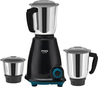 MarQ By Flipkart Allure KitchenPro 500 W Mixer Grinder (3 Jars, Black, Blue)