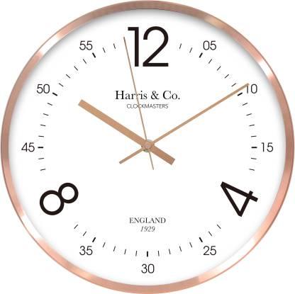 Harris & Co. Clockmasters Analog 30 cm X 30 cm Wall Clock