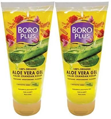 BOROPLUS Aloevera Gel-Haldi Chandan Kesar 150ml (Pack of 2)