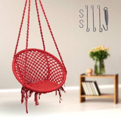 Curio Centre Round Swing with Spring Kit Accs. Cotton Hammock