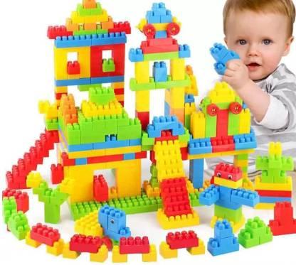 Lakshita Enterprise Building Blocks for Kids with Wheel, 40+ Pcs Packing, Best Gift Toy, Block Game for Kids,Boys,Children Multicolor (40+ PC)