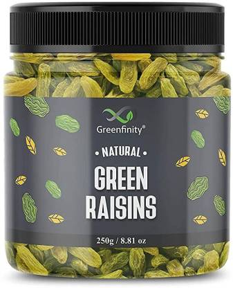 GreenFinity Premium Seedless Green Raisins | Dry Fruit Kishmish For every occasion and gift Raisins
