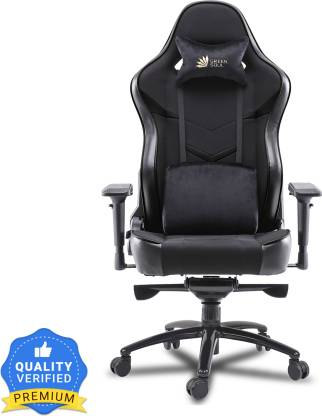GREEN SOUL Monster Ultimate Series (T) Multi-Functional Ergonomic Gaming Chair (GS-734U) (Full Black) (Size - Large) Fabric Office Executive Chair