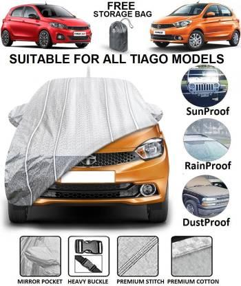 FABTEC Car Cover For Tata Tiago Facelift, Tiago, Tiago EV (With Mirror Pockets)