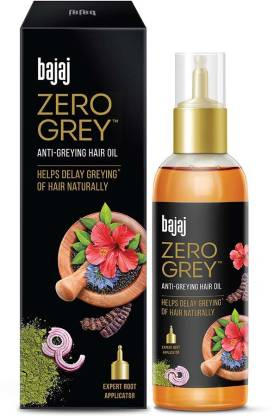 BAJAJ Zero Grey Hair Oil Enriched With Onion Helps Fight Greying Of Hair Naturally Hair Oil