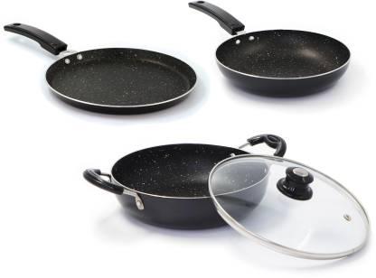 Flipkart SmartBuy Induction Bottom Splatter Finish Cookware Set of 3