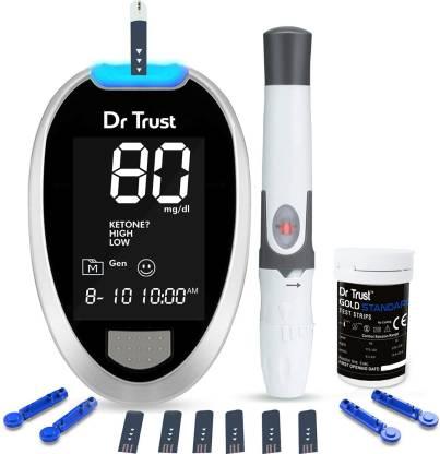 Dr. Trust (USA) Digital Glucose Blood Sugar testing Monitor Machine with 10 Strips Glucometer