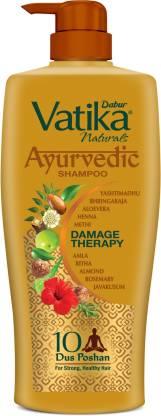 Dabur Vatika Naturals Ayurvedic Shampoo Damage Therapy(640 ml)