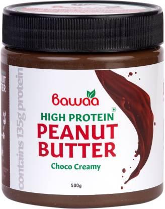 bawaa HIGH Protein Peanut Butter (Dark Chocolate) (Creamy) 500 g