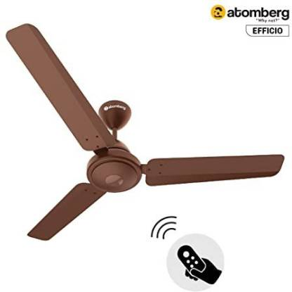 Atomberg Efficio 1200 mm BLDC Motor with Remote 3 Blade Ceiling Fan