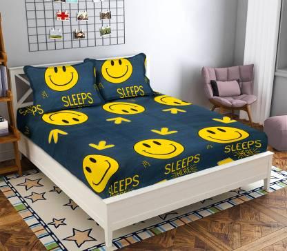 Crafteal 160 TC Microfiber Double Self Design Bedsheet