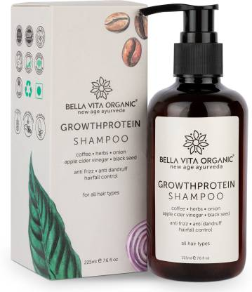 Bella vita organic Growth Protein Conditioning Shampoo With Growth Protein For Hair Volume, Fall, Dandruff, Frizz Control, Shine & Strength