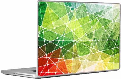 Swagsutra Green Lines Laptop Skin/Decal For 13.3 Inch Laptop Vinyl Laptop Decal 13