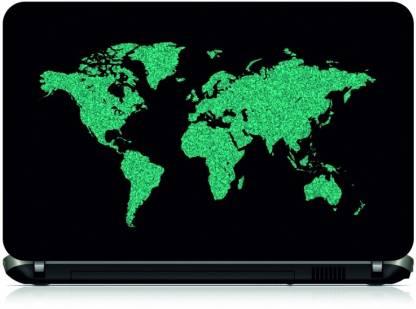 Box 18 World Map354 Vinyl Laptop Decal 15.6