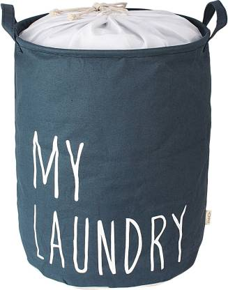 HOKIPO More than 20 L Grey Laundry Bag Fibre
