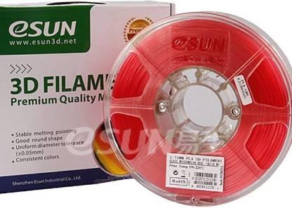 eSUN Glass Red PLA 1.75 mm (1 kg)- 3D Printing Filament