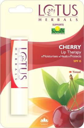 LOTUS HERBALS Lip Therapy Cherry, Cherry(Pack of: 1, 4 g)