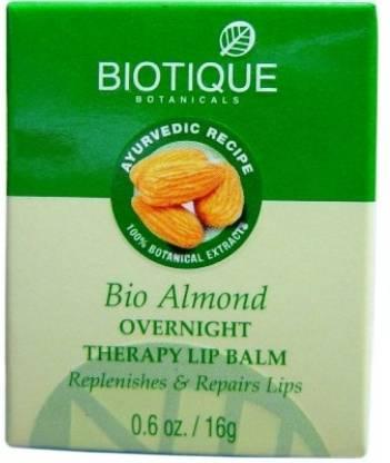 BIOTIQUE Bio Almond Over Night Therapy Lip Balm Almond